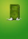 Groene muziekspeler royalty-vrije stock fotografie