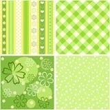 Groene naadloos van de inzameling. Stock Foto