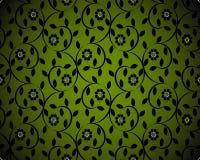 Groene naadloze bloemenachtergrond Stock Afbeelding