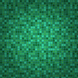 Groene naadloze mozaïekachtergrond Stock Afbeelding