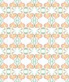 Groene naadloze patroonachtergrond met moderne desi Royalty-vrije Stock Afbeelding