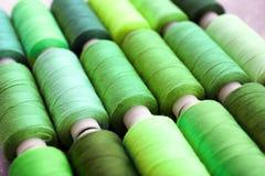 Groene naaiende draden Royalty-vrije Stock Foto