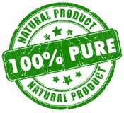 Groene natuurlijke zegel Royalty-vrije Stock Foto