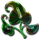 Groene neonbloem Stock Foto