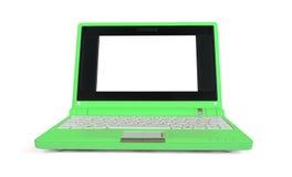 Groene netbook royalty-vrije stock foto's