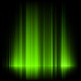 Groene noordelijke lichten, aurora borealis. EPS 10 Stock Foto