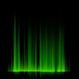 Groene noordelijke lichten, aurora borealis. EPS 10 Royalty-vrije Stock Afbeeldingen
