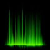 Groene noordelijke lichten, aurora borealis. EPS 10 Stock Afbeeldingen