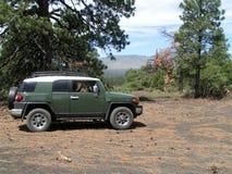 Groene offroad vrachtwagen Stock Afbeelding