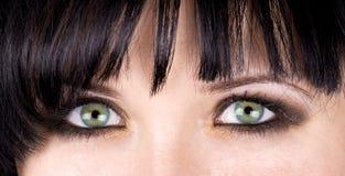 Groene ogen royalty-vrije stock afbeelding