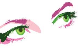 Groene ogen Stock Foto's