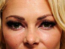 Groene ogen Stock Fotografie
