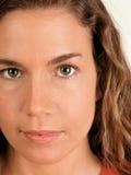 Groene ogen royalty-vrije stock foto's