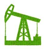 Groene oliepomp Stock Afbeeldingen