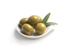 Groene olijven Stock Foto's
