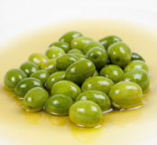 Groene olijven Stock Foto