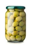 Groene olijven Stock Afbeelding