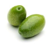 Groene olijven royalty-vrije stock foto