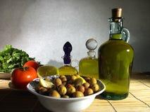 Groene olijvenplaat royalty-vrije stock fotografie