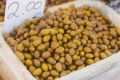 Groene Olive Healthy Food Stock Afbeeldingen
