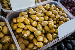 Groene Olive Healthy Food Royalty-vrije Stock Afbeelding
