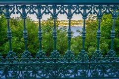Groene omheining in Quebec Royalty-vrije Stock Afbeelding