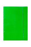 Groene omslag met elastiekje Stock Foto's