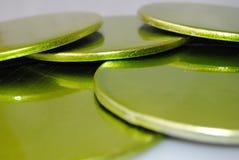 Groene Onderlegger voor glazen Stock Afbeelding