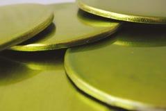 Groene Onderlegger voor glazen Royalty-vrije Stock Foto