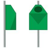 Groene openluchtvuilnisbak Stock Afbeeldingen