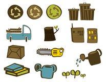 Groene opnieuw Voorwerpen stock afbeelding