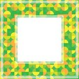 Groene oranje abstracte grens Royalty-vrije Stock Foto's
