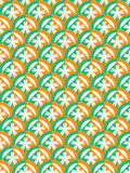 Groene oranje cirkel Stock Fotografie