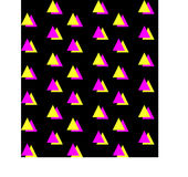 Groene Oranje Halve Vierkante naadloze achtergrond Royalty-vrije Stock Afbeeldingen