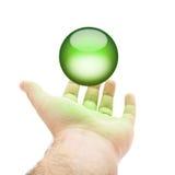 Groene Orb Hand stock illustratie