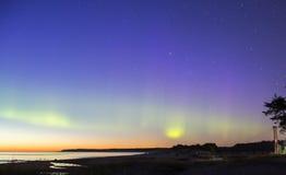 Groene overweldigende lijnen van de Noordelijke Lichten royalty-vrije stock foto