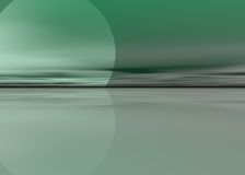 Groene overzeese achtergrond Stock Afbeelding