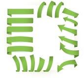 Groene paginaelementen Stock Fotografie