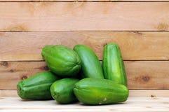 Groene papaja zes royalty-vrije stock foto