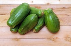 Groene papaja zes Stock Foto's