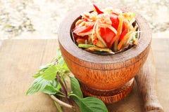 Groene papajasalade Stock Foto