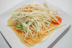 Groene papajasalade Stock Foto's