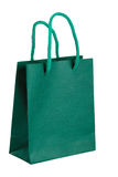 Groene papieren zak. Royalty-vrije Stock Foto's