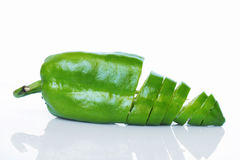 Groene papper stock foto