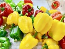 Groene paprika of Paprika stock afbeeldingen