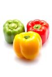 Groene paprika drie Royalty-vrije Stock Foto