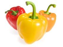 Groene paprika drie Stock Afbeeldingen