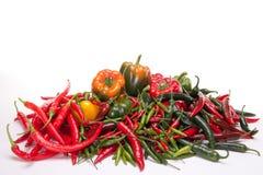 Groene paprika en Spaanse peper Stock Afbeelding
