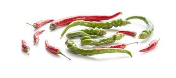 Groene paprika en Spaanse peper. stock fotografie