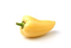 Groene paprika op een wit Stock Fotografie